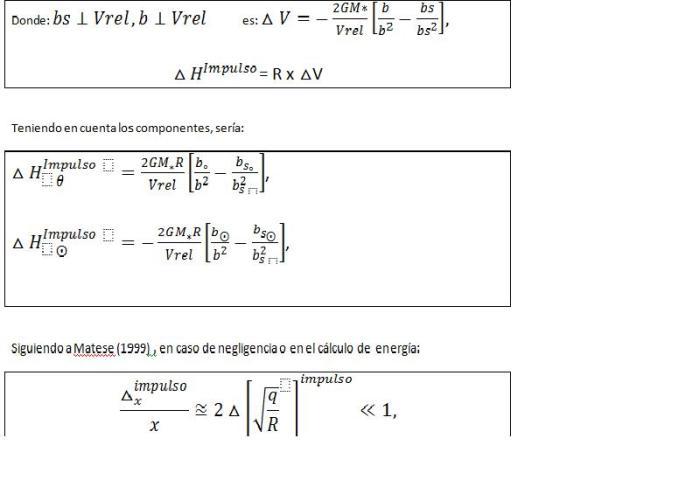 Cálculo del impulso estelar