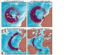 Esquema de riesgo de tsunami por actividad tectónica en Las islas Canarias