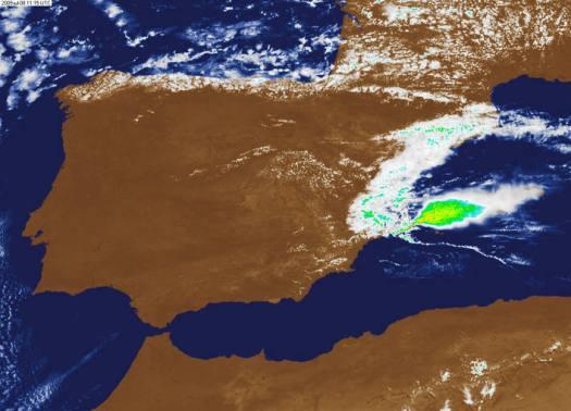 Tornados en el mediterraneo desplazándose hacia Ibiza