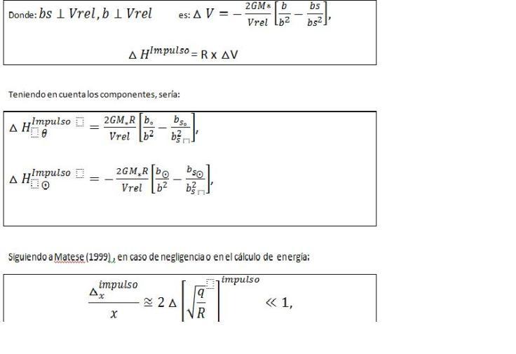 Cálculo del impulso estelar revisado. Ecuación de flujo cometario relativo