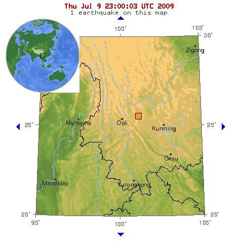 Zona donde se ha producido el seismo