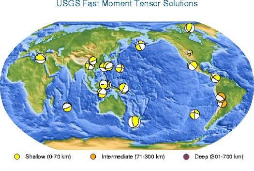 Mapa actualizado de USGS a 16.07.2009. Img copyright USGS.org