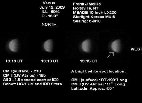 Aspecto de Venus a 19 de Julio