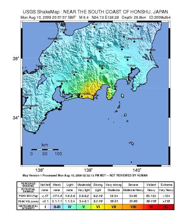 Alerta sismo en Japón. Posibles réplicas en la zona próxima a Tokyo.