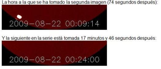 Variaciones por franjas horarias.
