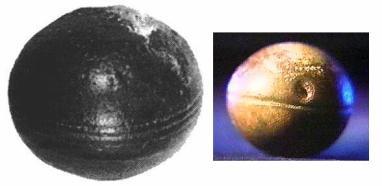 Los esferoides y su increíble parecido con Iapetus. Antiguedad: 2800 millones de años