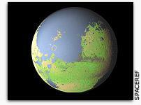 El aspecto final de Marte tras su proceso de Terraformación