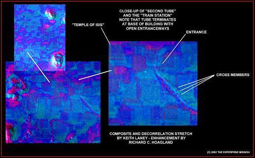 Degradado verificado por Hoagland, de las estructuras de Cydonia