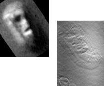 Antes y después de la cara de Cydonia.