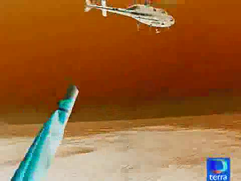 Helicóptero en negativo. Perfil