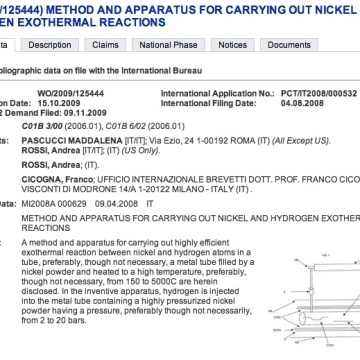 Patente Fusión Fria