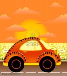 7260366-car-on-a-background-summer-landscape-264x300